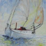 Marina 3-pictura ulei pe panza;MacedonLuiza - Pictor roman, Marine, Altul