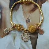 Bratara PANDORA Gold placata aur + 1 charm pandantiv cadou