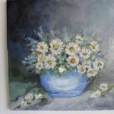 Vas cu flori 1-pictura ulei pe panza;MacedonLuiza - Pictor roman, Altul