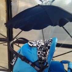 Baby Care - Umbrela universala pentru carucior UV 50 - Carucior copii 2 in 1, Negru