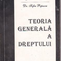 GENOVEVA VRABIE, SOFIA POPESCU - TEORIA GENERALA A DREPTULUI - Carte Teoria dreptului