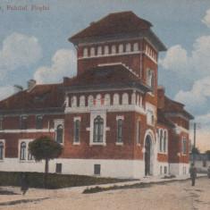 TARGOVISTE PALATUL POSTEI CIRCULATA 1921 - Carte Postala Muntenia dupa 1918, Printata