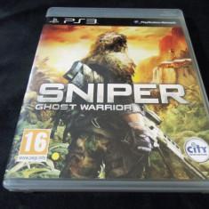 Joc Sniper Ghost Warrior, PS3, original, alte sute de jocuri! - Jocuri PS3 Altele, Shooting, 16+, Single player