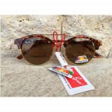 Ochelari De Soare Ray Ban Clubmaster Maro  2 Polarizati +Toc Saculet Laveta
