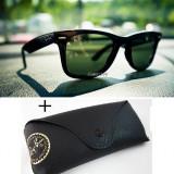 Ochelari Ray Ban Wayfarer+Toc - Ochelari de soare Ray Ban, Unisex, Verde, Protectie UV 100%