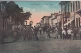 OLTENITA ,  STRADA CAROL , ANIMATA , CIRC.1929 , EDITURA LIBRARIEI G. GEORGESCU, Circulata, Printata