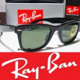 Ochelari Ray Ban Wayfarer - Ochelari de soare Ray Ban, Unisex, Verde, Protectie UV 100%