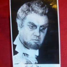 Fotografie cu autograf si dedicatie a baritonului Vasile Micu 1971