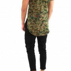 Tricou tip ZARA camuflaj army - asimetric - tricou barbati 8015, Marime: S/M, L/XL, Culoare: Din imagine