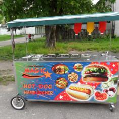 Carucior hot-dog si hamburger