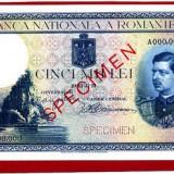 Bancnote specimen