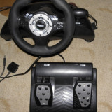 Volan Bigben Interactive, cu pedale si schimator viteze, PS3/PS2/PC