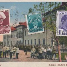 TARGOVISTE SCOALA MILITARA DE CAVALERIE LIBBRARIA GH. STANESCU CIRC.1932 TCV - Carte Postala Muntenia dupa 1918, Circulata, Printata