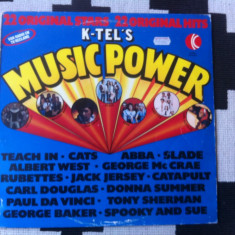 Music power Various K Tel's disc vinyl lp muzica pop rock disco hituri anii 70, VINIL