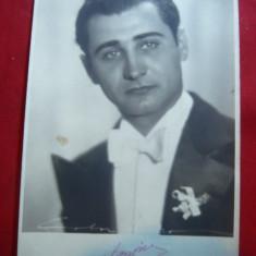Fotografie actor roman cca.1940 Marcel Lupovici, cu dedicatie si autograf