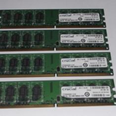 Kit 8 Gb Ram DDR2 (4 x 2 Gb) Crucial 667 Mhz / Quad chanel (T12.3) - Memorie RAM Crucial, Quad channel