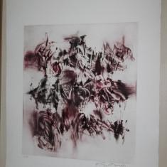 GRAVURA HARRY GUTTMAN, 3 //MONOTIP - Pictor roman, Abstract, Cerneala