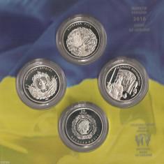 SV * SET MONETARIE UCRAINA 2016: 5 monede x 5 HRYVNI < 25 Ani de Independenta >, Europa
