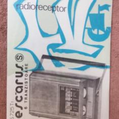 CARTE TEHNICA RADIORECEPTORUL PESCARUS S725T1 TEHNOTON . - Carti Electronica