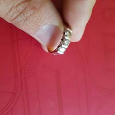 Inel Aur Alb & Galben cu Diamante Naturale CERTIFICATE - Inel diamant, Carataj aur: 18k