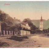 #2029- Romania, Zalatna, Zlatna, c.p. necirc. apr. 1918: Strada postei, Necirculata, Fotografie