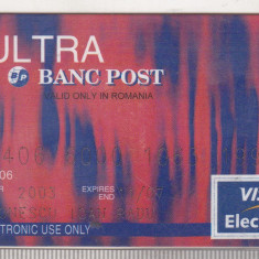 Bnk card Card Bancar Banc Post Ultra