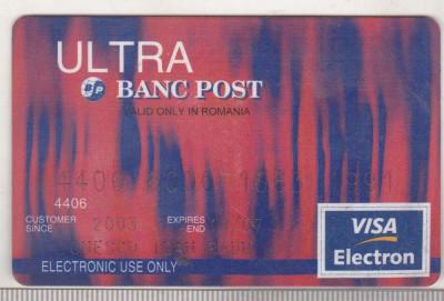 bnk card Card Bancar Banc Post Ultra foto