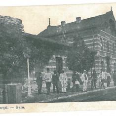 1072 - Vrancea, ODOBESTI, Railway Station - old postcard - used - 1917 - Carte Postala Moldova 1904-1918, Circulata, Printata