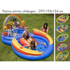 PISCINA GONFLABILA dubla cu tobogan Intex - Piscina copii