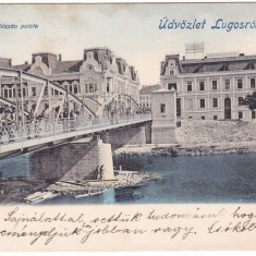 #2019- Romania, Lugos, Lugoj, c.p. circulata 1902: Noul pod de fier, animat