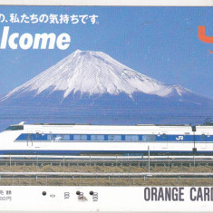 Bnk card Japonia - cartela de tren Orange Card 1000