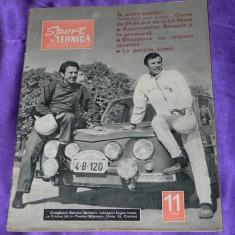 Sport si tehnica 1968 nr 11 automobilism aviatie radioamatori (f1002