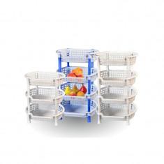 Etajera ovala din plastic cu 3 nivele - Raft/Etajera