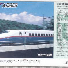 Bnk card Japonia - cartela de tren iO-Card 3000 - Asama