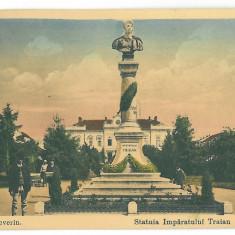 1239 - TURNU-SEVERIN, Traian statue - old postcard - used - 1914 - Carte Postala Oltenia 1904-1918, Circulata, Printata