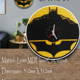 BATMAN_Ceas LEMN de perete vopsit_Mat #dark# #knight #batman #timecraft