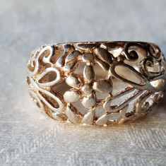 Inel argint model Floral SPLENDID vechi SUPERB vintage de Efect Elegant finut