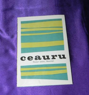 PLIANT de colectie MUZEUL SATULUI - CASA CEAURU JUD GORJ text limba romana foto