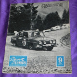Sport si tehnica 1969 nr 9 auto motociclism aviatie radioamatori (f1013