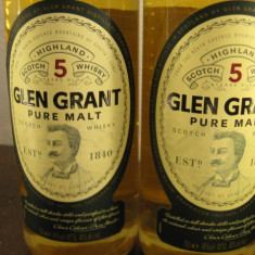 2 sticle Whisky GLEN GRANT pure malt, 5 years cl. 70 gr. 40 ani 80/90