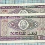 Consecutive-10 lei/1966-UNC - Bancnota romaneasca