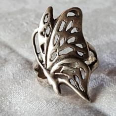 Inel argint FLUTURAS vechi SPLENDID vintage SUPERB finut DELICAT de Efect