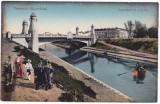 #2022- Romania, Temesvar, Timisoara, c.p. necirc. 1918: Bega, podul nou, anim, Necirculata, Fotografie