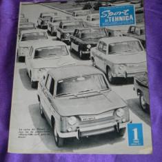 Sport si tehnica 1969 nr 1 automobilism aviatie coperta dacia 1100 (f1004