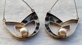 LUXURY CERCEI argint cu PERLE manopera EXCEPTIONALA de efect IMPECABILI eleganti