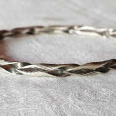 Bratara argint TRIBALA veche Frunze inlantuite Finuta superba de Efect RARA