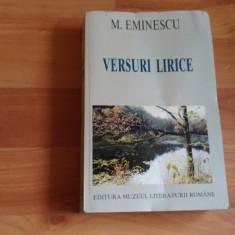 VERSURI LIRICE - MIHAI EMINESCU