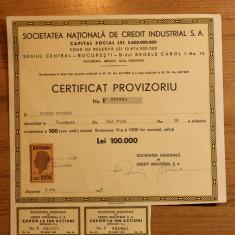 CERTIFICAT PROVIZORIU, EMIS IN 1947 - Diploma/Certificat