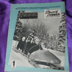Sport si tehnica 1968 nr 1 motociclism automobilism radioamatori (f1001