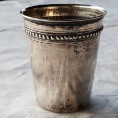 Pahar argint IMPECABIL marcaj VECHI argint executat manual Patina minunata, Pahare